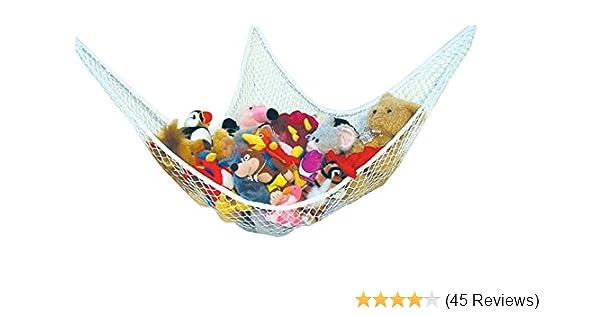 Kinderzimmer spielen Huijukon Jumbo Spielzeug H/ängematte Storage Net Organizer f/ür weiche Stofftiere 84 x 59 x 59 Zoll Teddies
