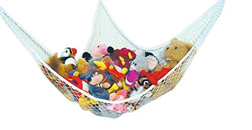 Speichernetz Spielzeug Hängematte Speichernetz für Kuscheltiere, Spielzeug Aufbewahrung geeignet für Kinderraum , Kinderspielzeug, Organisation & Hängender Organizer (weiß)