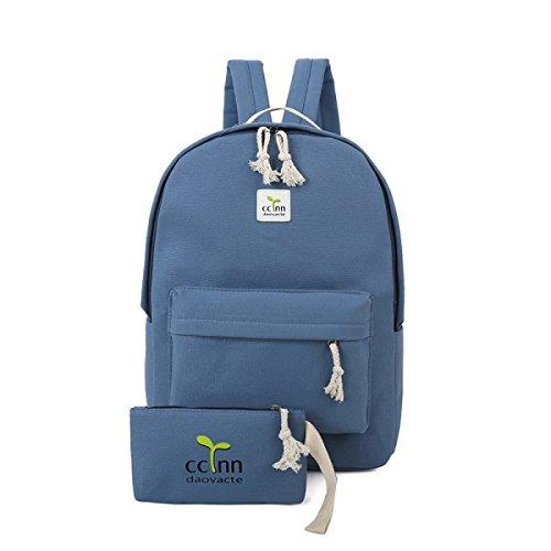 FZHLY Piccolo Dolce Canvas Shoulder Bag Borsa Studente,MintGreen-Small Blue-Small