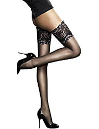 Fiore Luxury Super Fine 20 Denier Sheer Hold Ups - Available in Black, White and Natural