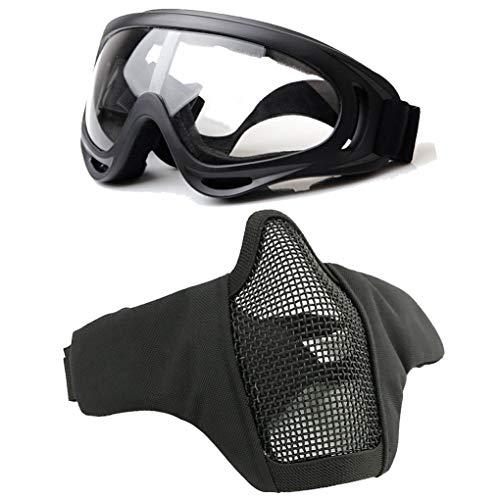 COZYJIA Máscara táctica y Gafas UV400 X400