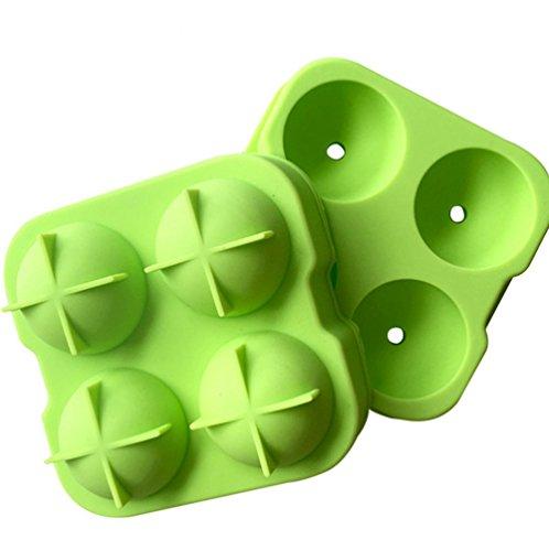 Milopon Eiswürfelformen Eiswürfelform Eiswürfelschale aus Silikon Kugelförmig Eiswürfel Box Eiswürfel Silikonformen Whiskyquadrate Eiswürfelbereiter Eiswürfelschale 4 pro Schale -