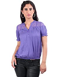 Remanika Purple color Cotton Top for womens