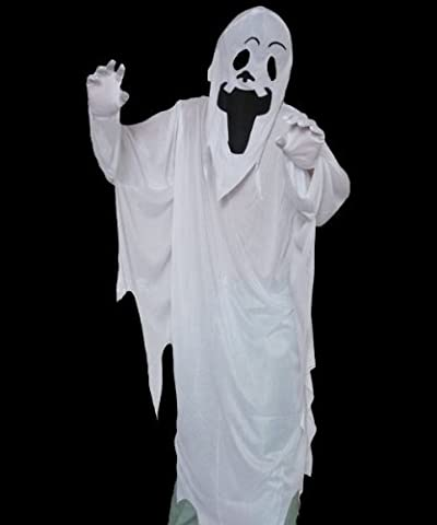 Costumes Dhalloween Avec Des Costumes Robe Blanche - SODIAL(R) Robe Blanche Esprit avec le Masque