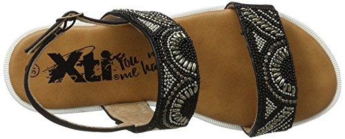 XTI - Black Pu Ladies Sandals ., Sandali Donna nero (nero)