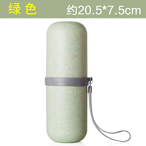 Portable Reise Kunststoff Paar Mund Becher Zahn-Rohr mit Zahnbürsten-Zahnbürsten-Aufbewahrungsbehälter Körperpflege-Sets,Kapsel-Modelle-grün
