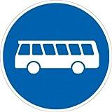 Verkehrszeichen VZ245, Bussonderfahrstreifen, Alu, RA1, Ø 42cm Verkehrsschild