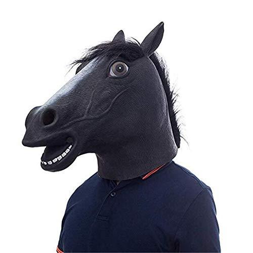 Kennen Cosplay Kostüm - WXH Halloween Party gruselig Pferdekopf Maske, Pferdekopf Reiter Tier Maske, Reiter Maske Kostüme, Latex Tier Maske, Kopf Maske Cosplay Requisiten