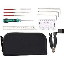 Kit de herramientas de reparación de guitarra, incluye organizador de cuerdas y regla, herramienta