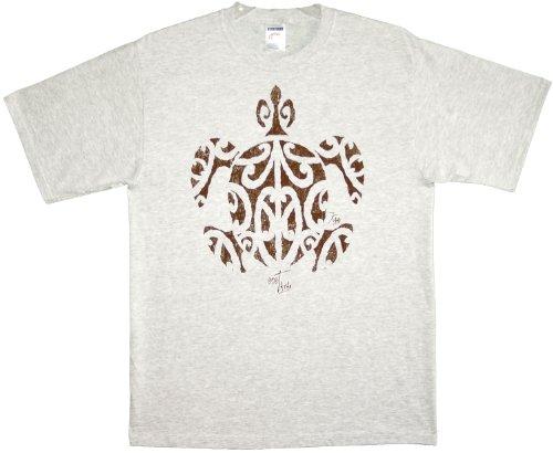 Kauai Imprint - RJC Tatau (Tattoo) Honu Pre-Shrunk Cotton T-shirt in Ash Gray - L