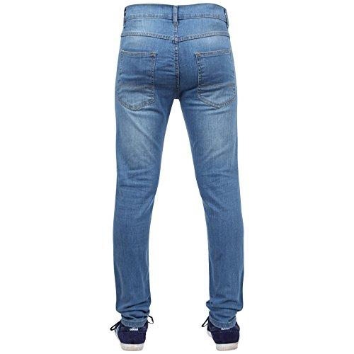 Newfacelook Hommes Skinny Jeans Pantalons Designer Fashion Denim Pant bleu clair