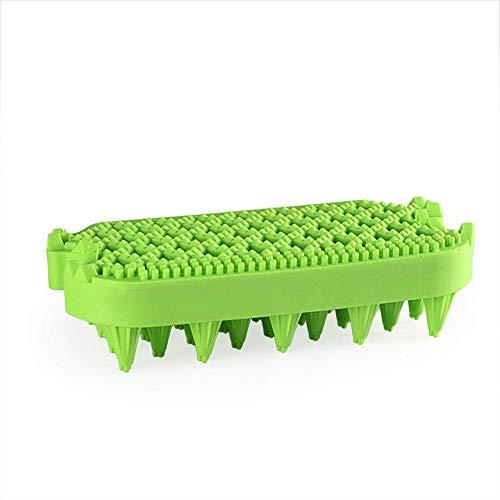 iSunday Hund Silikon Kopf Körper Kopfhaut Massage Bürste Kamm Haar Waschen Duschbad Spa Bürste - Grün -