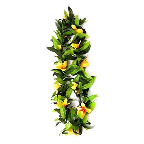 Adminitto88 Hawaiianisches Blatt Haarband Tiamat mit Hawaiianischen Blumen Tropischen Luau Lei, B Fleur Jaune