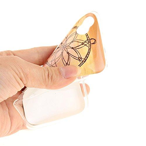 Wiko Sunny hülle,MCHSHOP Ultra Slim Skin Gel TPU hülle weiche Silicone Silikon Schutzhülle Case für Wiko Sunny - 1 Kostenlose Stylus (Weiße große Blume) Rosa Windspiele