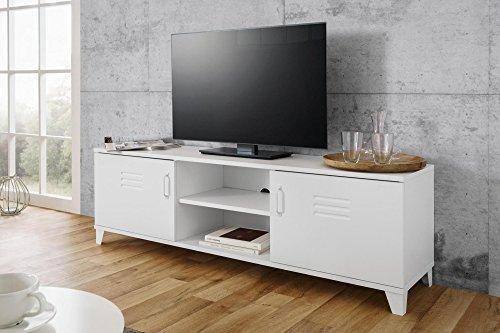 Inter Trade 2340 Meuble TV 2 Portes, Bois, Blanc, 160 x 40 x 50 cm