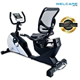 Welcare WC1588 Recumbent Exercise Bike with Adjustable Seat, Magnetic Resistance, Pulse Monitor