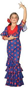 Atosa-39394 Disfraz Flamenca, Color Azul, 3 a 4 años (39394