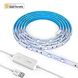 iHaper Smart LED Stripes, 2m, dimmbar, 16 Millionen Farben, kompatibel mit Apple HomeKit App, Siri Sprachsteuerung, 2.4 GHz WiFi, energiesparend, Licht Streifen für Indoor Dekoration, ideales Geschenk