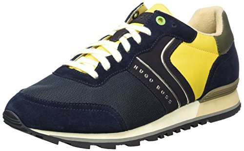 Sneakers runn Homme Scuro Verde Bassi 10191435 Bleu nymx Boss 01 Parkour 406 blu gqwBYY6