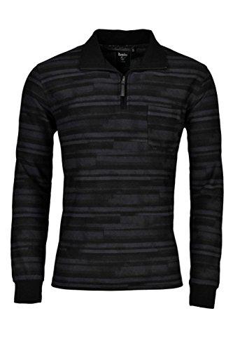 hajo Herren Sweatshirt 25670 56 schwarz