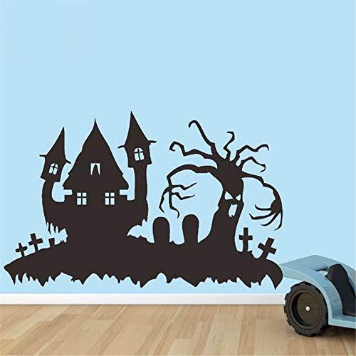 wandaufkleber spruch schlafzimmer Glücklicher Halloween-Festival-lustiger Haus-Baum-Friedhof scherzt Raum (Lustige Halloween-friedhof Sprüche)