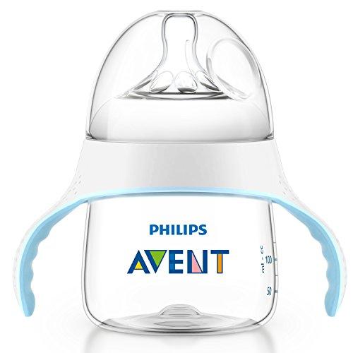 Philips AVENT SCF251/00 Naturnah Trainer Cup, 4 Monate+, transparent/hellblau, 150 ml