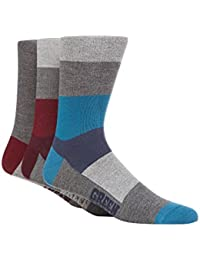 Green Treat Pack Of Three Assorted Plain And Striped Socks