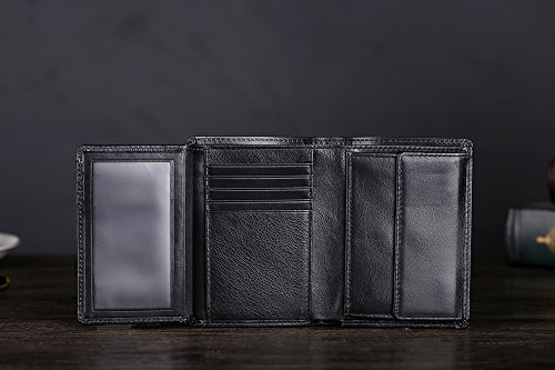 41XqZ8lH0wL - Cronus & Rhea® | Luxury wallet with coin pocket made of exclusive leather (Charon) | Wallet - Wallet - Wallet - Money Clip | Real leather | With elegant gift box | Men