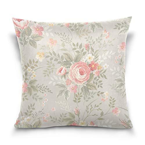 Martinad Fundas De Cojín De Almohada Casual Chic Floral Rosa Shabby Chic...