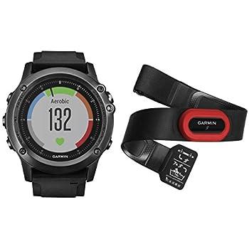 Garmin 010-01338 Fenix 3 Sapphire Edition - Reloj Multi-Sport Training GPS, color Reloj Gris/Correa Negra