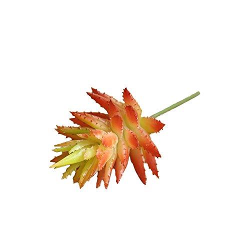 URIJK Künstliche Pflanze Aloe Sukkulenten Strauß Kunstblumen Dekoblumen Simulation Grün Pflanze für Hause Büro Hochzeit Garten Dekoration (Seide Aloe-pflanze)