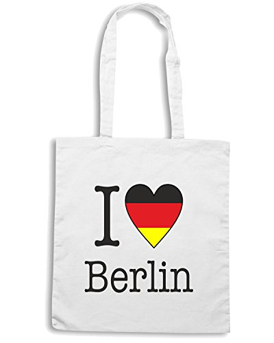 T-Shirtshock - Borsa Shopping T0172 I LOVE BERLIN Bianco