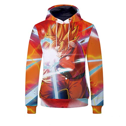 Cosstars Dragon Ball Anime Kapuzenpullover Sweatshirt Cosplay Kostüm 3D Druck Pullover Hoodie Sweater Top Mantel 2 XXXL