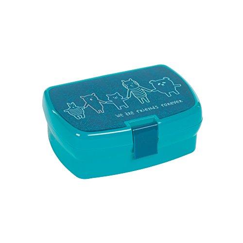 LÄSSIG Kinder Brotdose Lunchbox Snackbox spülmaschinengeeignet/Lunchbox About Friends