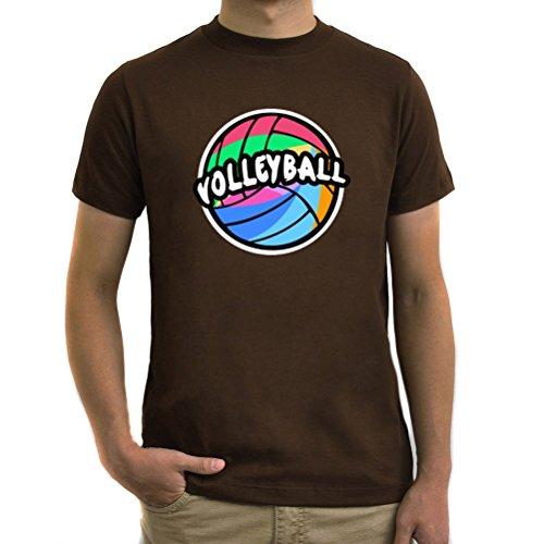 Maglietta Volleyball rainbow Marrone