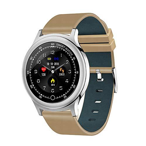 FRUZAZ Smart Watch Classic Color Touch Screen Armband 1.54 Zoll Großbildschirm IP68 Schwimmen Dustproof Langstand Lange Standby 24 Stunden Uninterrupted Herzfrequenz-Test-Test Runde Watch,Silver
