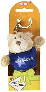 NICI n15873-Llavero Oso con Camiseta Francesco, Azul