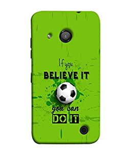 Fuson Designer Back Case Cover for Microsoft Lumia 550 (you can do it football trust motivational inspirational)