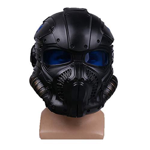 nihiug Gears of War Krieg Maschine Onyx Schutzhelm Cosplay Maske Halloween Maske,Black-OneSize - Onyx-maschine