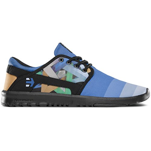 Etnies Scout x Juan Travieso Low Top Shoe Black Blue Noir - Black Blue