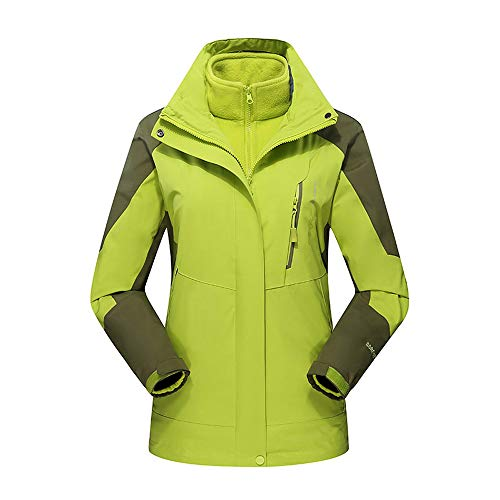 Damen Winter Draussen Outfit Zwei Stück DREI Im EIN Wasserdicht Atmungsaktiv Mantel