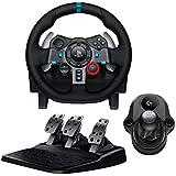 Logitech G29 Volant de course + pédalier pour PS3 et PS4 + levier de vitesse Driving Force Shifter