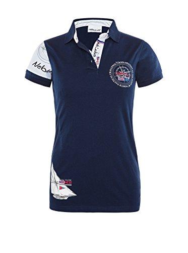 T219 - NEBULUS POLO-SHIRT DEEP-BLUE, Polo, T-Shirt, Hemd Damen navy