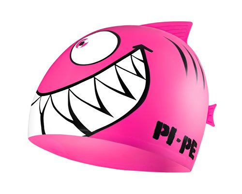 PI-PE Kinder Badekappe Sharky, Rosa, One Size, PBS-1-P