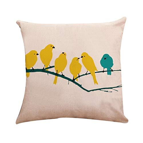 JUSTSELL New Arrivial ❤ Vogel-Serie Muster Kissenbezug(45cm*45cm) Schlafsofa Home Deco Zierkissenbezüge Dekorationskissen Kissenbezug (Kissen ist Nicht im Preis inbegriffen)