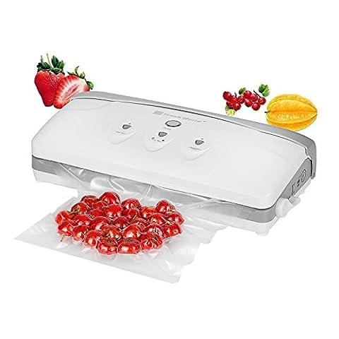 NexGadget Appareil à Emballer Automatique Sous Vide FoodSaver pour Préservation Aliments avec 3 Modes de Scellement pour l'Alimentation, la Paperasserie, le Vin, les bijoux, les Vêtements, etc. … (blanc 1)