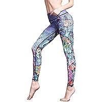 Donna Wagsiyi Leggings di Fitness Pantaloni Yoga Pantaloni Europa e America Nine Yoga Stampa Femminile Pantaloni da Fitness Traspiranti ad Asciugatura Rapida Pantaloni da Compressione da Donna