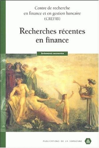 Recherches récentes en finance