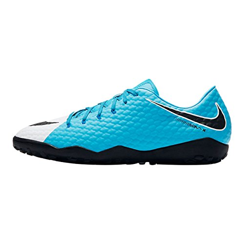 Nike Herren Hypervenomx Phelon Iii Tf Fußballschuhe Mehrfarbig (White/black-photo Blue-chlorine Blue)