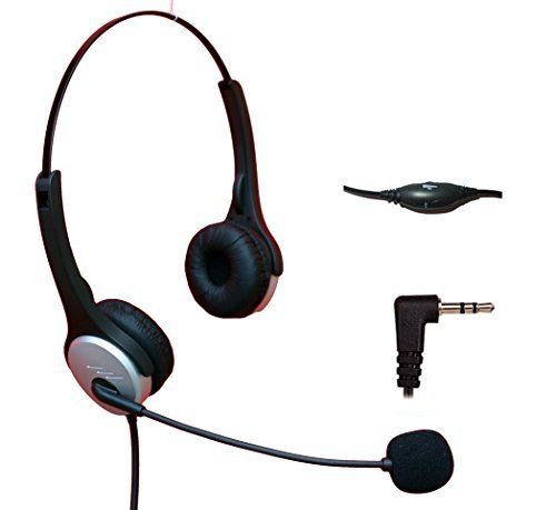Voistek Corded Binaural Call Center Telephone Headset Noise Cancelling Headphone with Flexible Microphone for Cisco Linksys Polycom Panasonic Office Deskphone DECT Cordless and Cell Phones with 2.5mm Headset Jack (H20D25MM)  available at amazon for Rs.4310